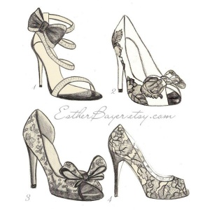 croquis chaussures
