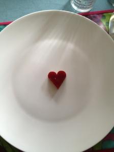 Coeur en assiette