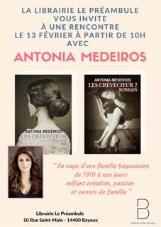 La librairie Le Préambule vous invitent àune rencontre avec Antonia Medeiros