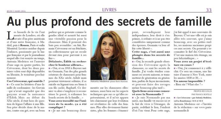 Paris Normandie article